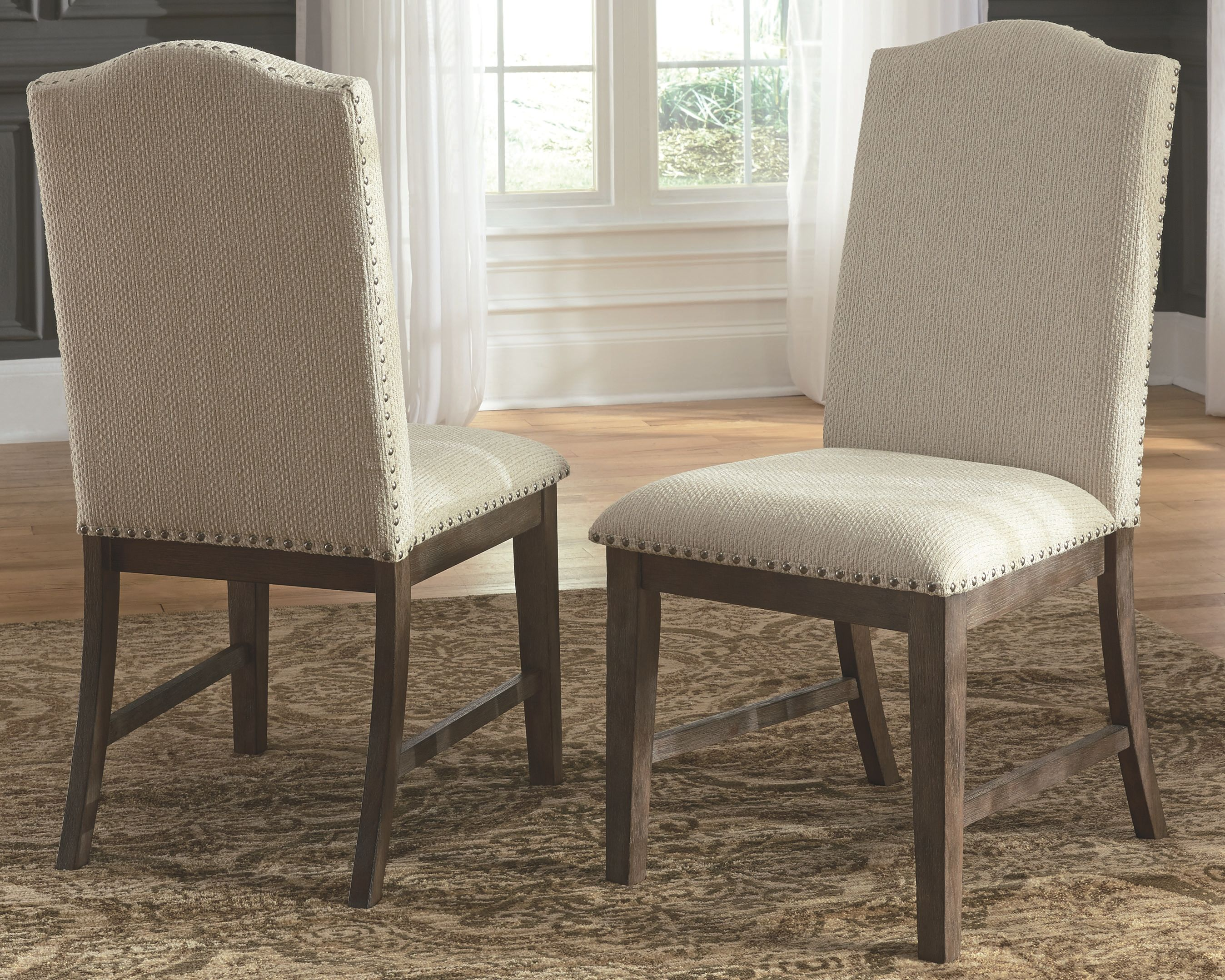Super Johnelle Dining Room Chair Set Of 2 Beige Products In Customarchery Wood Chair Design Ideas Customarcherynet