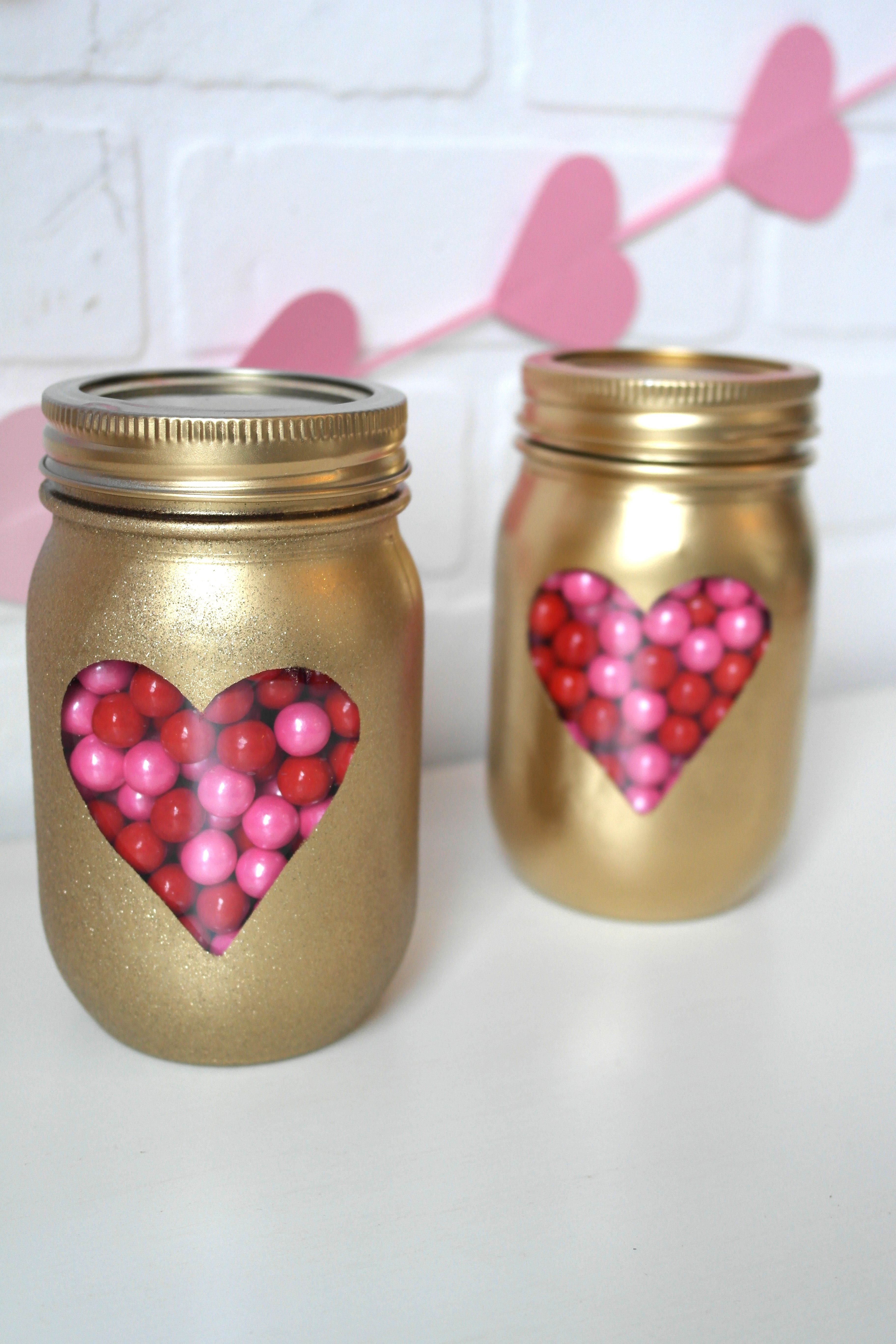 Diy Valentines Day Mason Jars Valentine S Day Pinterest Diy