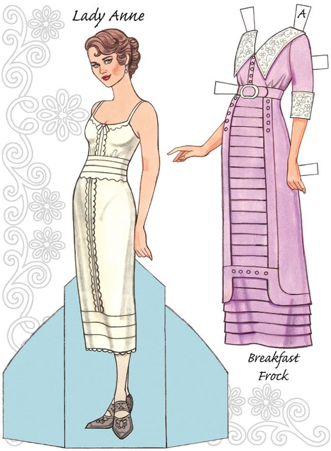 English Country Paper Dolls Downton Abbey Costume And Paper Doll