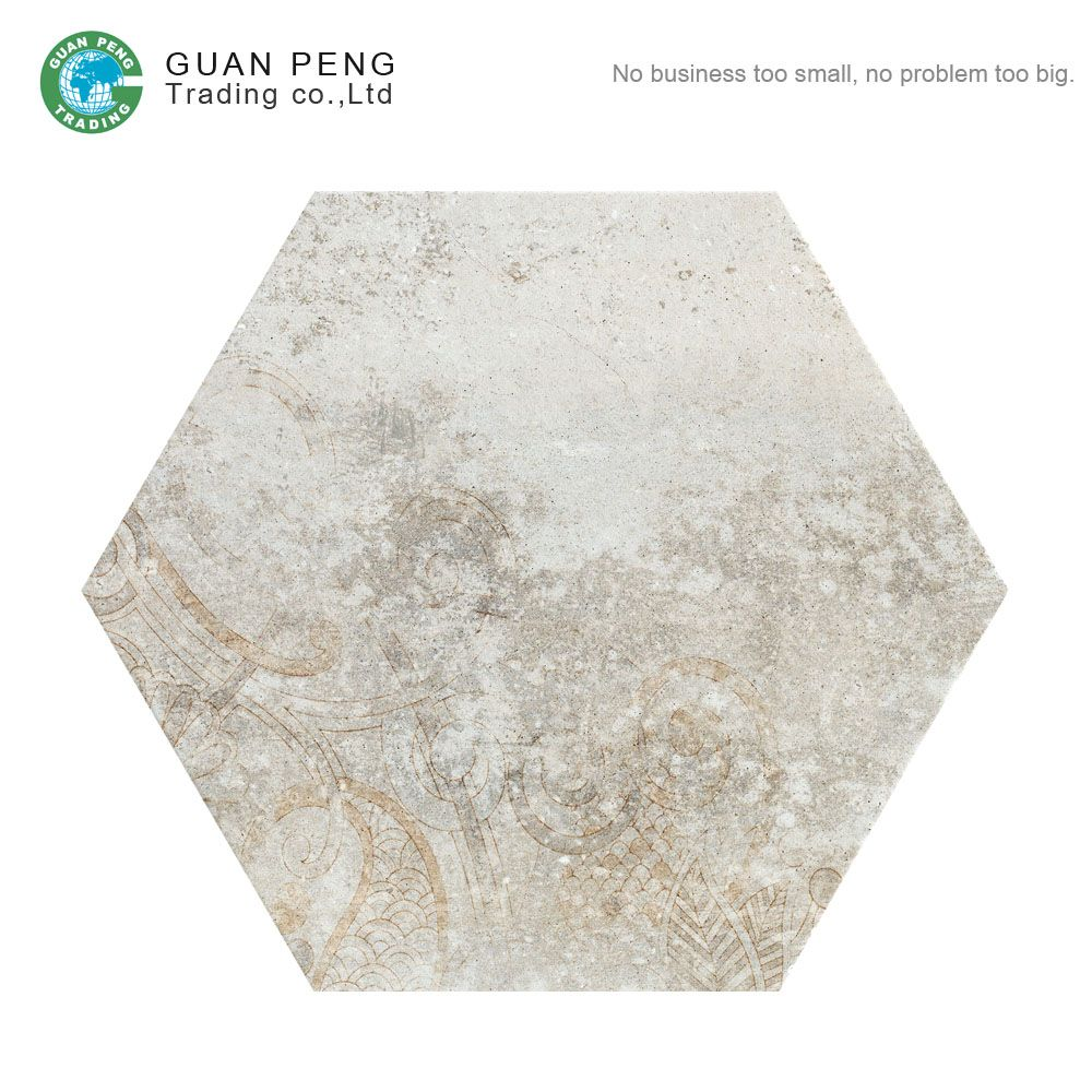 Rustic Korea Cheap China Ceramic Tile Floors For Bedroom Hexagon