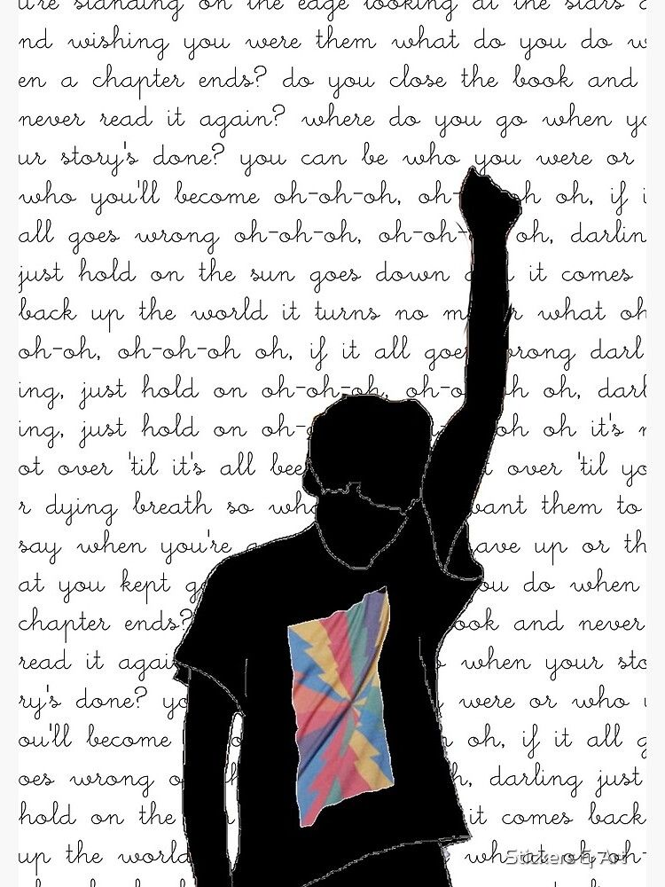 Just Hold On - Louis Tomlinson Spiral Notebook by Stickers & Art
