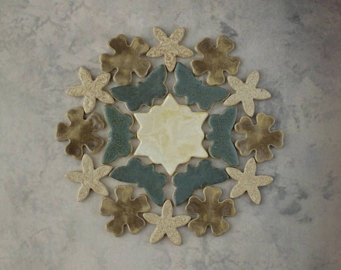 Handmade Decorative Tiles Interesting Flower&butterfly Handmade Decorative Ceramic Mosaic Tile Element Design Ideas