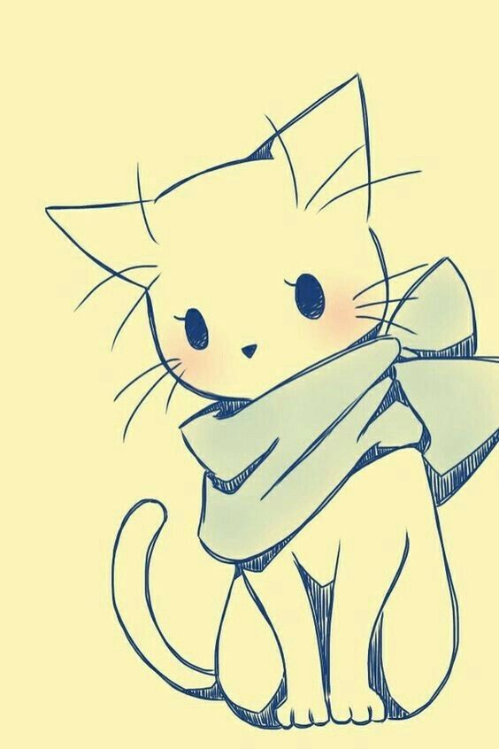 Pin By Katie Godsey On Draw Base Cute Cat Drawing Love Drawing