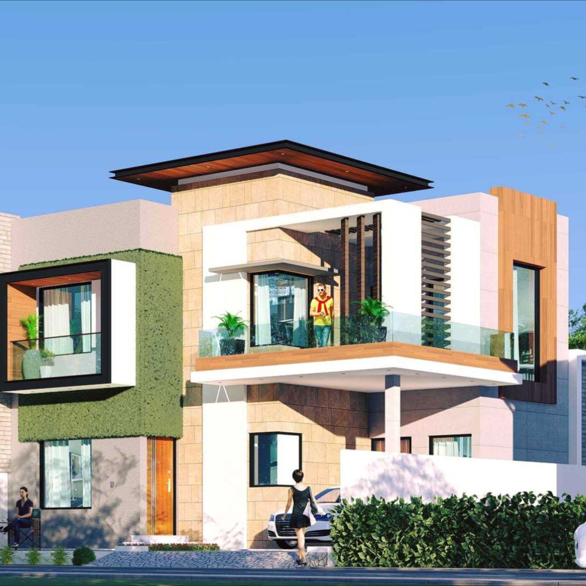 200 Sq Yds Residential House Design In 2020 House Design Design Residential House