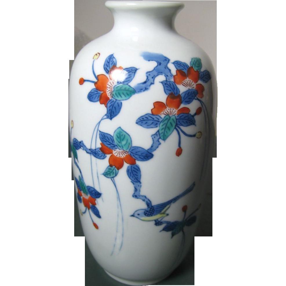 Japanese vintage arita nabeshima porcelain vase of sakura branch japanese porcelain vintage nabeshima vase of sakura branch from the many faces of japan on ruby reviewsmspy