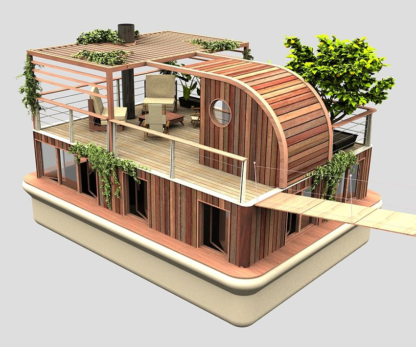 Casa Flutuante Ecologica Ecomarinas Pinterest Casas