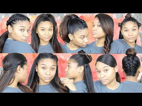 10 Easy Hairstyles For Straight Hair Youtube With Images Straight Hairstyles Easy Hairstyles Medium Length Hair Styles