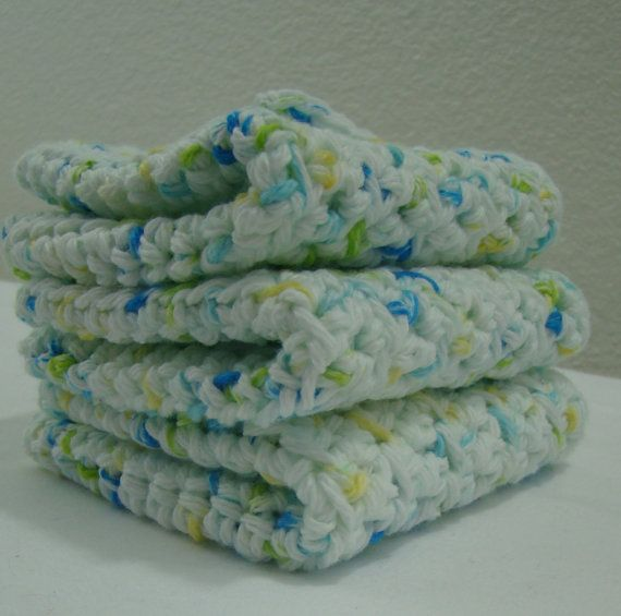 FREE SHIPPING. USA Homemade. Set of 3. Crochet by AHappyHook, $10.50