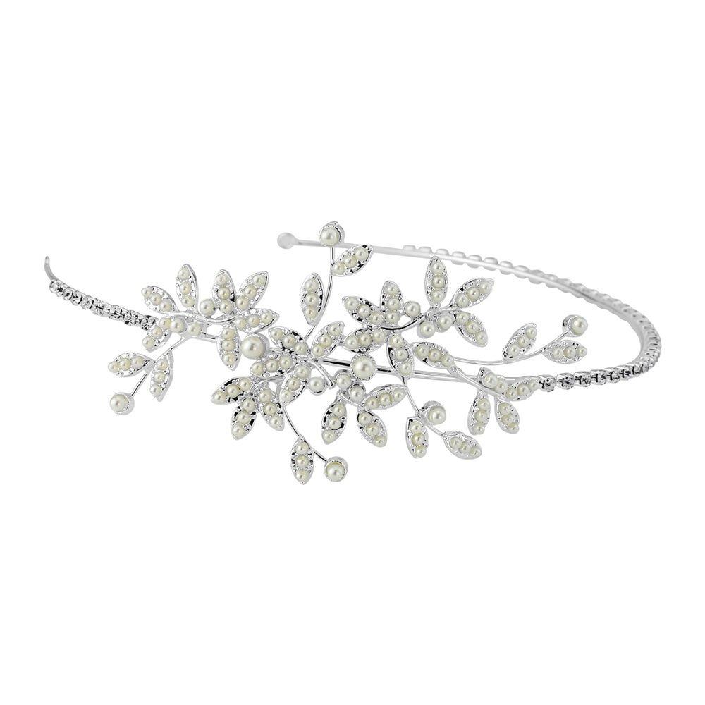 Harmony Wedding Headband - HDB24 (awj) | Wedding headband, Crystal ...