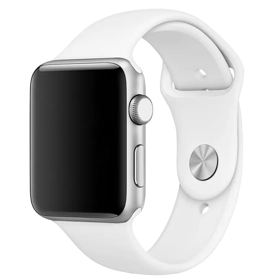 White Silicone Strap For Apple Watch 38 40mm Buy Online In India Dailyobjects Apple Watch White Apple Watch Bands Sports Apple Watch