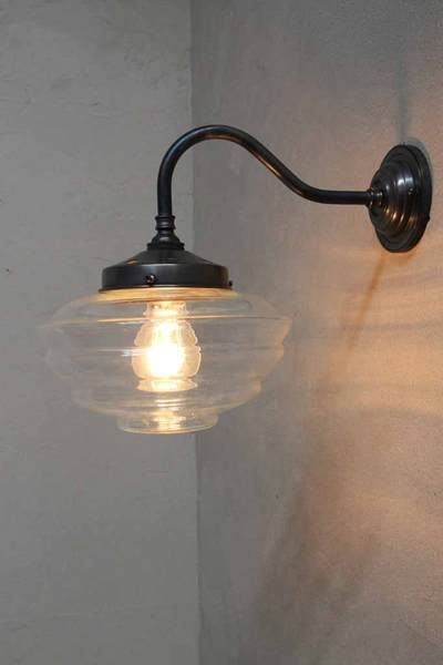 reminiscent of french diner lighting this wall light has a clear