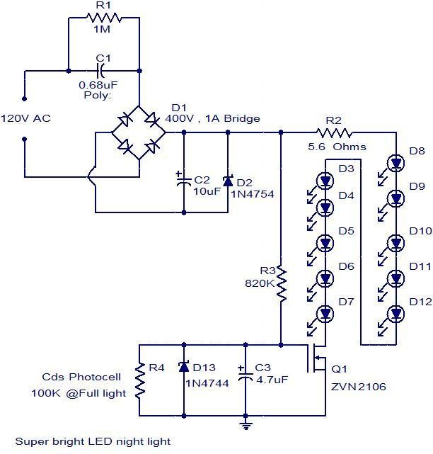 120v led wiring diagram what kind of switch to operate and bypass led lights circuit electronicscircuit led lights circuit electronicscircuit