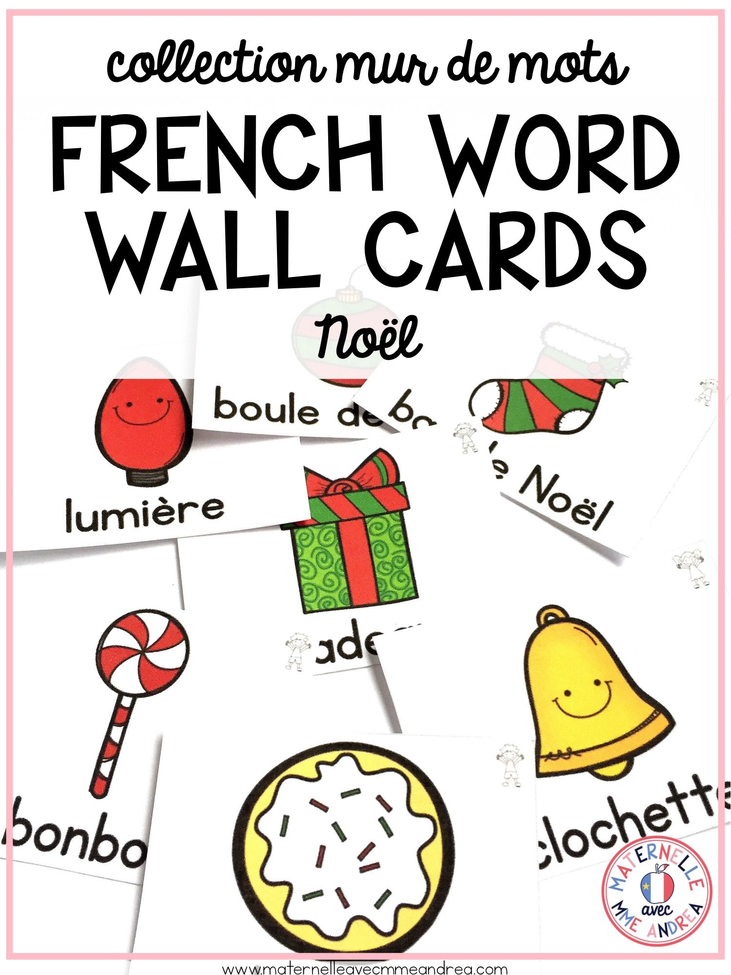 French Christmas Vocabulary Cards