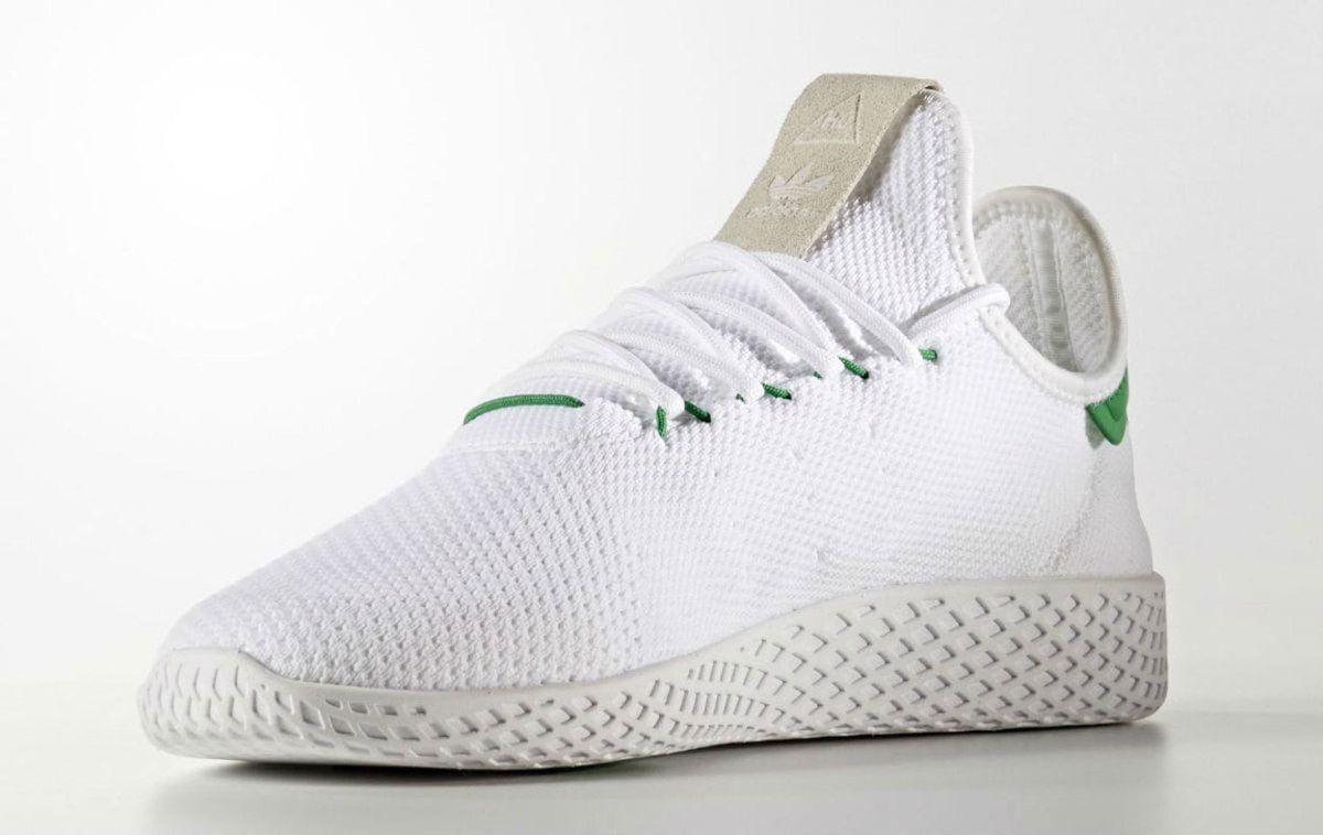 sale retailer 540bd 24799 Pharrell x adidas Tennis HU White Green