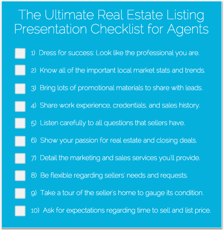 Real Estate Listing Presentation Checklist