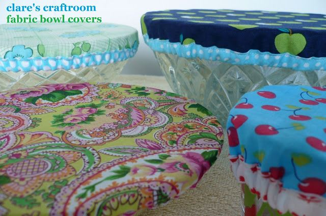 clare's craftroom: fabric bowl covers