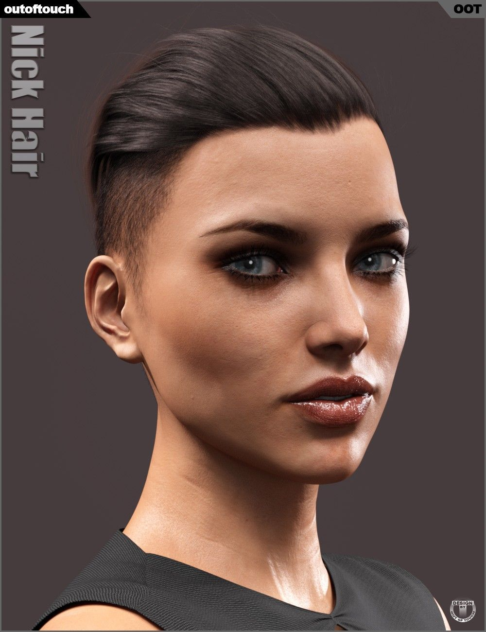 Nick Hair For Genesis 3 And 8 3d Models And 3d Software By Daz 3d