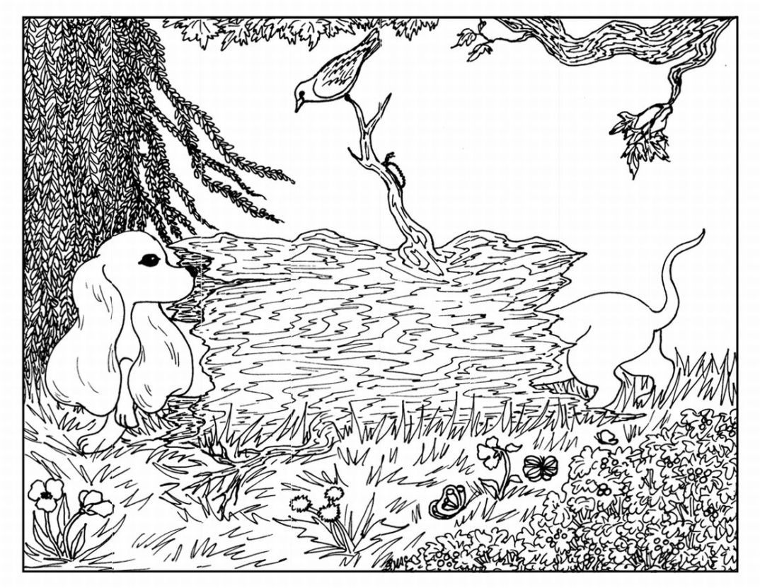 Advanced Nature Coloring Pages  Printable #halloweencoloringpages