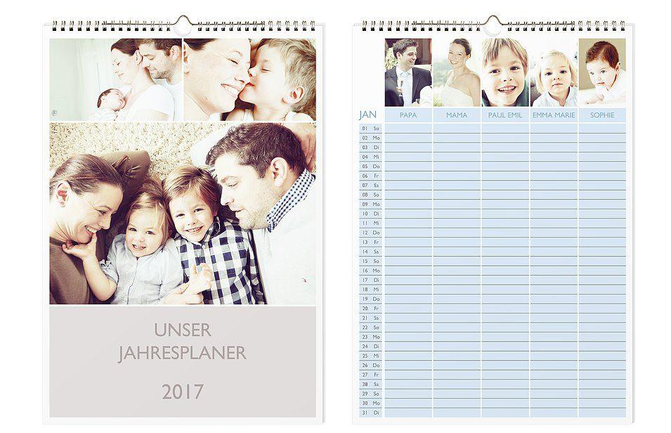 Foto-Familienkalender von der Kartenmacherei