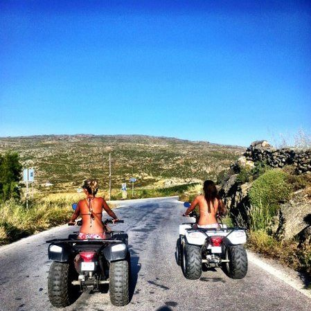 ATV-ing around Mykonos, Greece