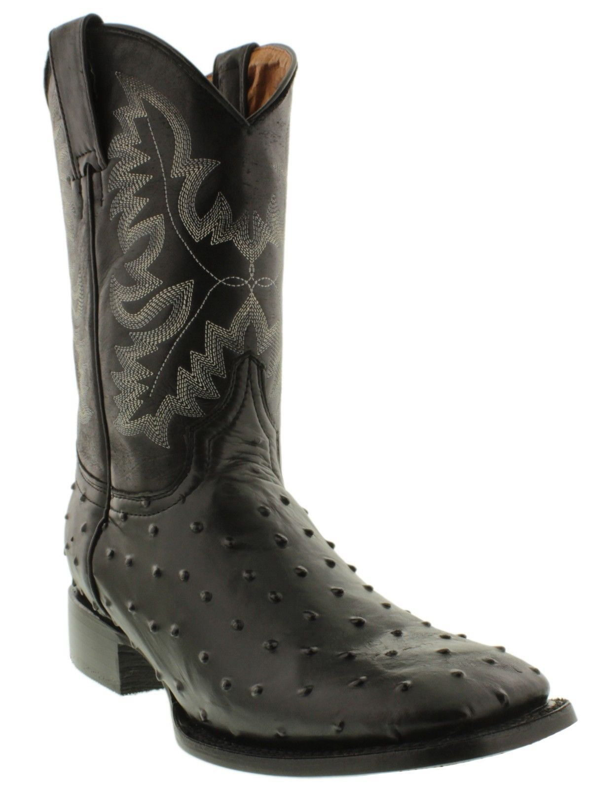 b75cb707f90 Details about MEN'S BROWN OSTRICH QUILL LEATHER WESTERN RODEO EXOTIC ...