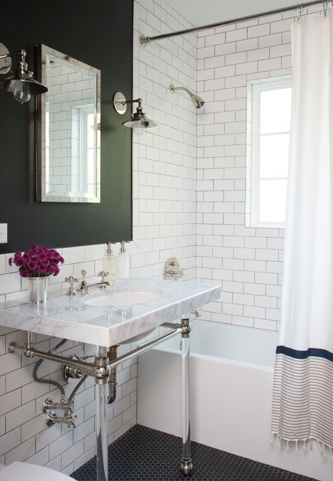Modern Green Bathroom Makeover Small Stuff Counts Painted