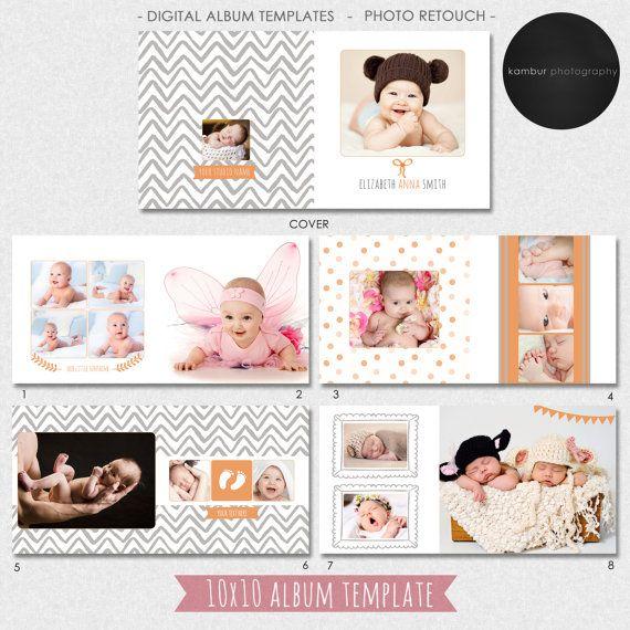 10x10 Psd 30 Pages Baby Photo Album Album Template Newborn