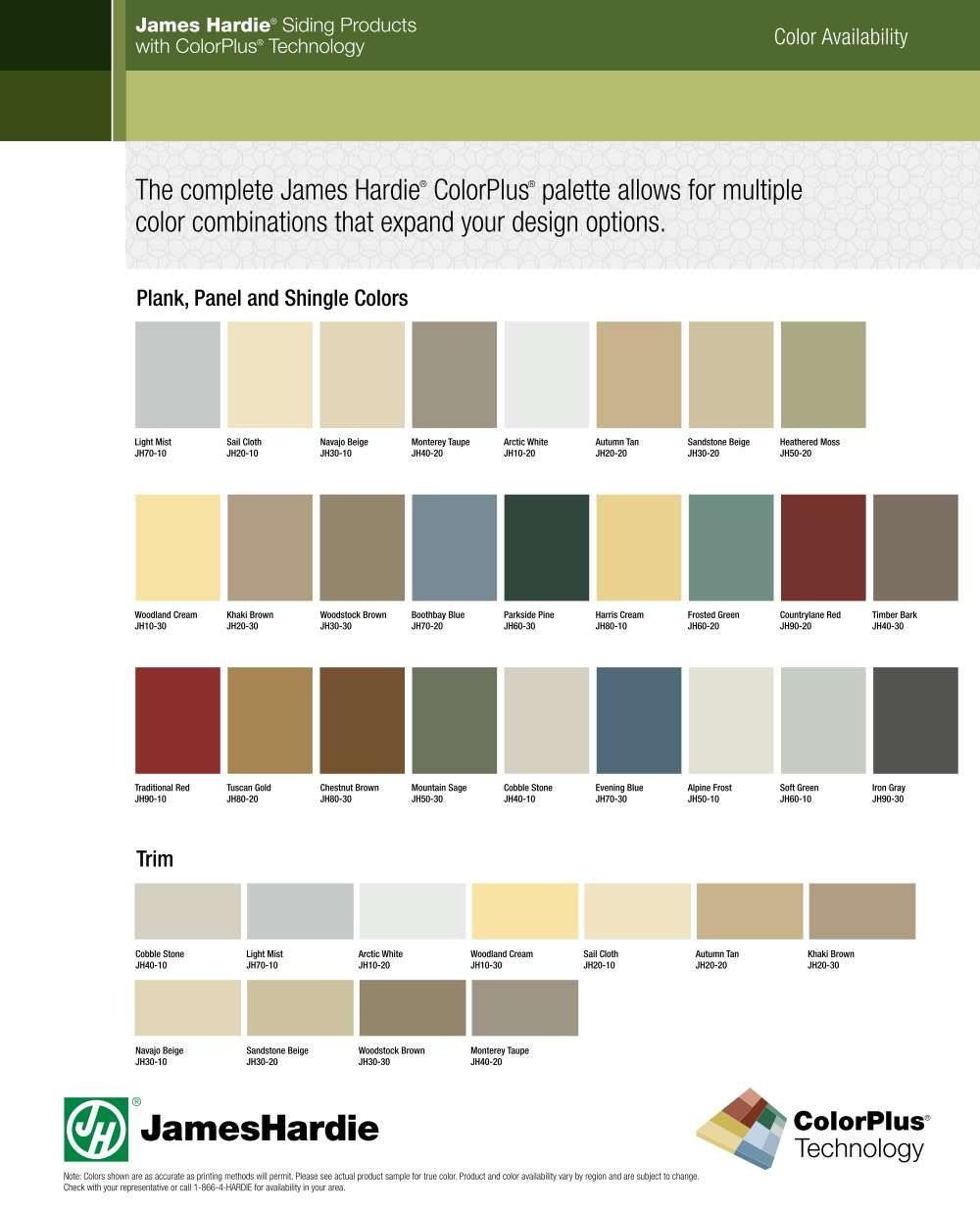 Fiber Cement Siding Color And Finish Options Cement Siding Colors Hardie Siding Hardie Board Siding Colors