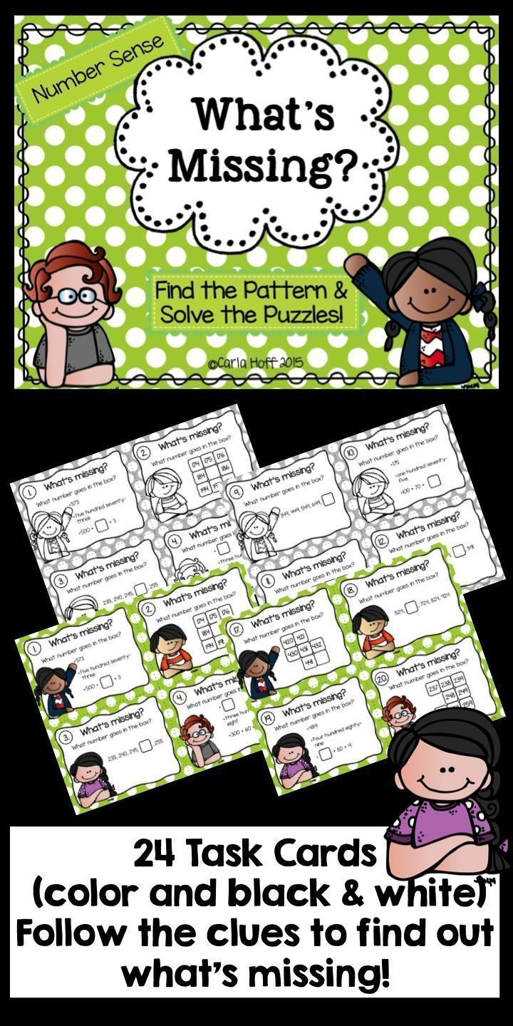 These task cards are a fun way to practice using number sense and ...