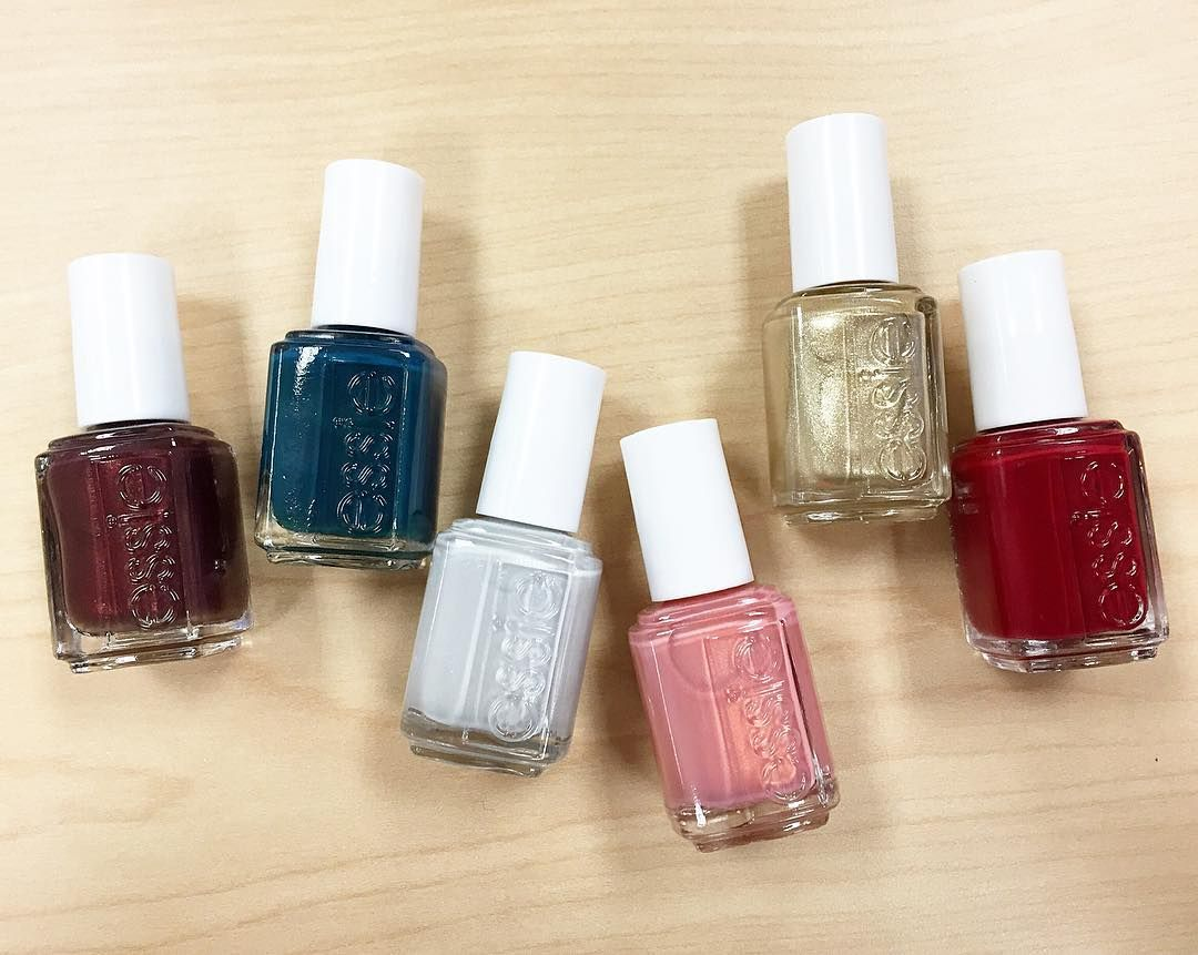 essie winter 2016 left to right: \'ready to boa\', \'go with the flowy ...