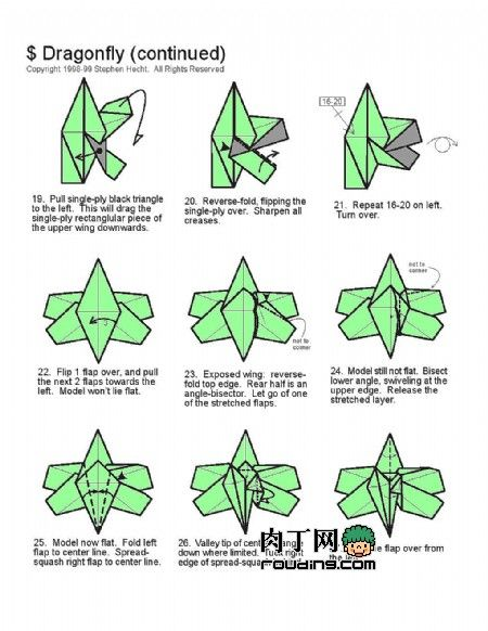 How To Origami Origami Dragonfly Dragonfly Origamiorigami