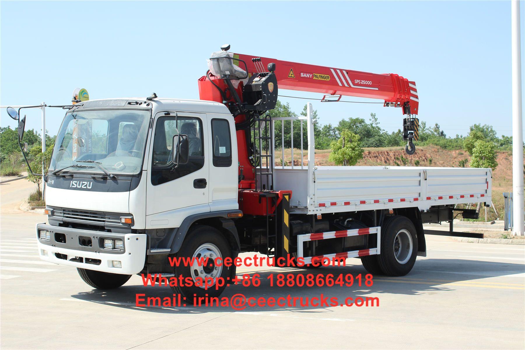 Isuzu Ftr 10tons Truck Mounted Crane Truck Mounted Crane Trucks Hydraulic Systems