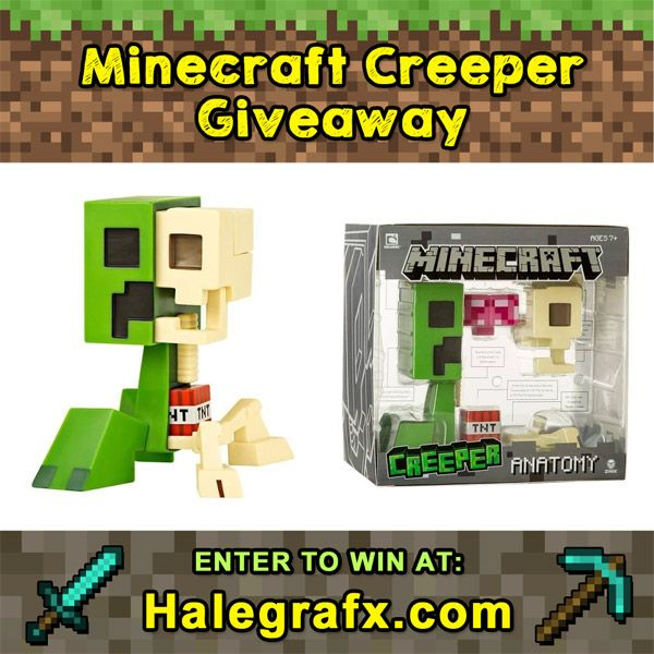 Minecraft Creeper Anatomy Figure Giveaway Giveaways Pinterest