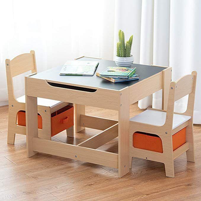 COSTWAY 3 TLG. Kindersitzgruppe Kindermöbel Kinderstuhl