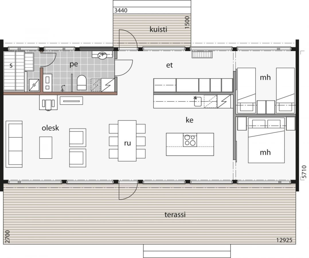 Glass House 80 Log Cabin Kontio In 2020 House Plans House Floor Plans Modern House Plans
