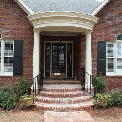 Rounded Brick Front Steps Front Porch Steps Brick Porch Front Porch Stairs