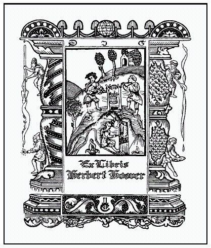 Herbert Hoover S Bookplate Book Plates Ex Libris Original Drawing