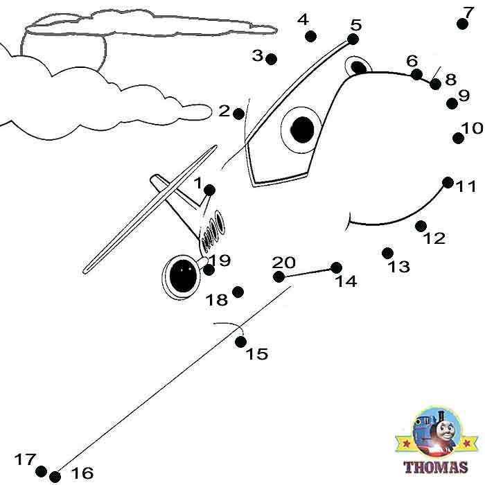 Fun online worksheets Sodor Jeremy the jet plane Thomas and – Free Dot to Dot Worksheets for Kindergarten