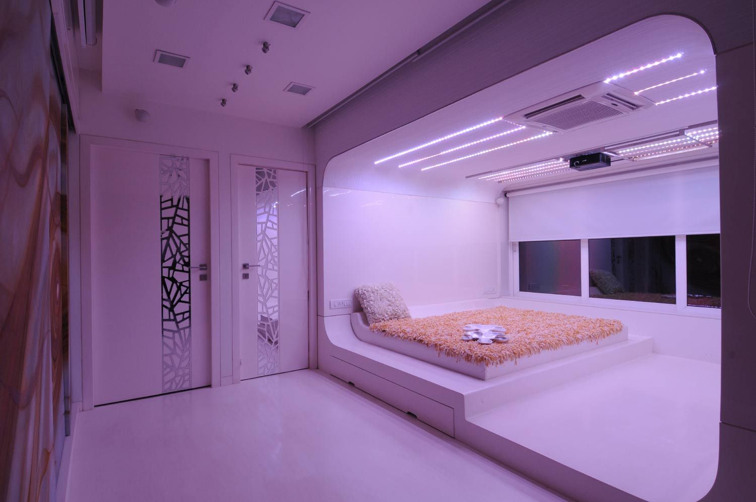 Girls Bedroom with Purple Colour - Design by Architect: Sonali Shah ...