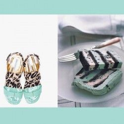 Mint and Leopard Sandals + Mint Chocolate Chip Cake    We just adore this combination from Cupcakes for Breakfast.
