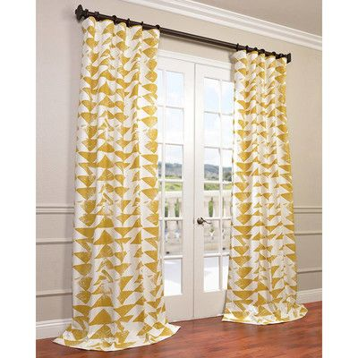 Half Price Drapes Triad Twill Single Curtain Panel
