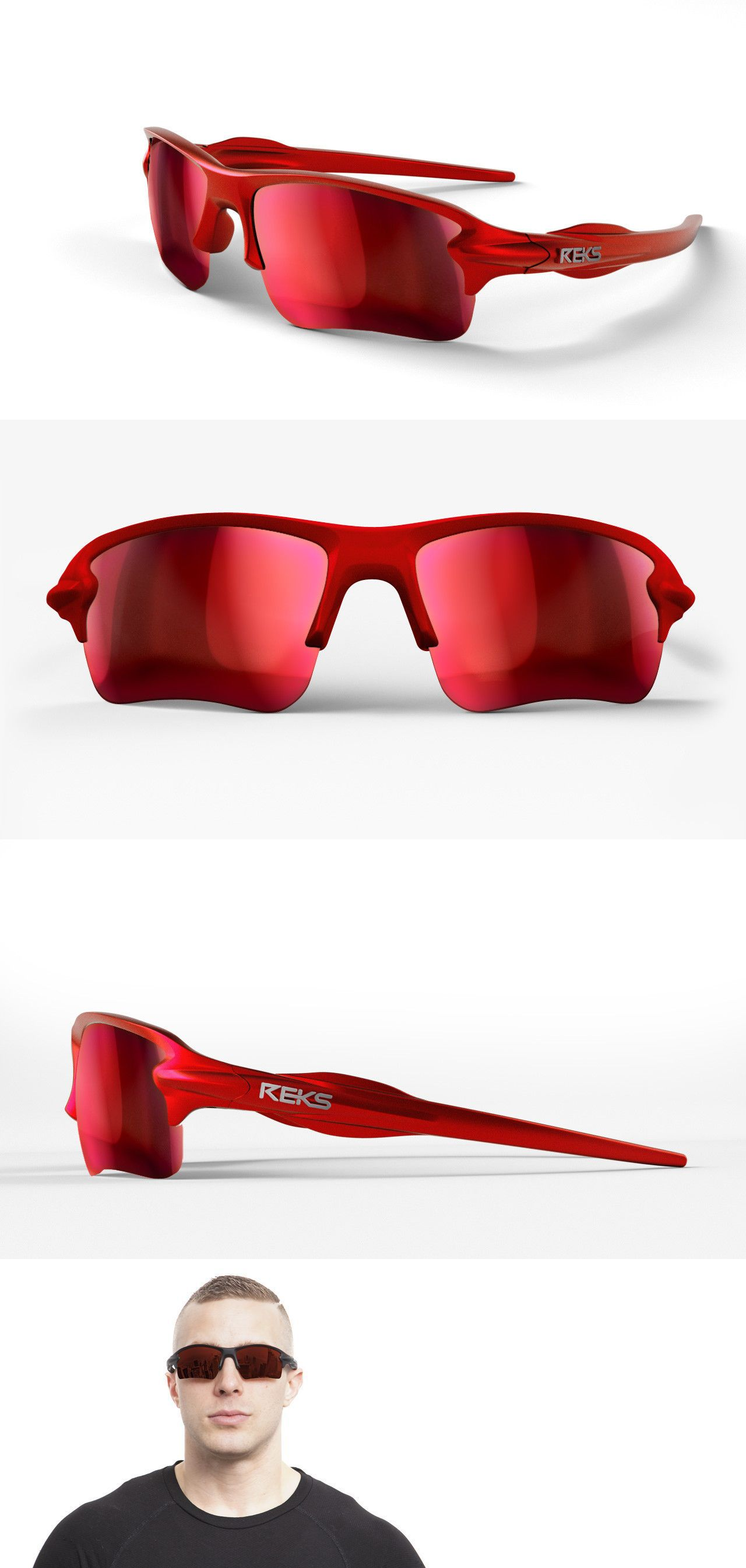 7ae5e2a517c495 Accessories 179245: New Reks Unbreakable Sling Blade Polarized Sunglasses  Red Mirror Anti Reflective -> BUY IT NOW ONLY: $25 on #eBay #accessories ...