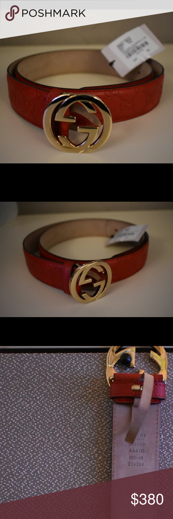 8ce29177579 Authentic unisex Gucci belt with tags Brand new authentic unisex Gucci belt  with tags