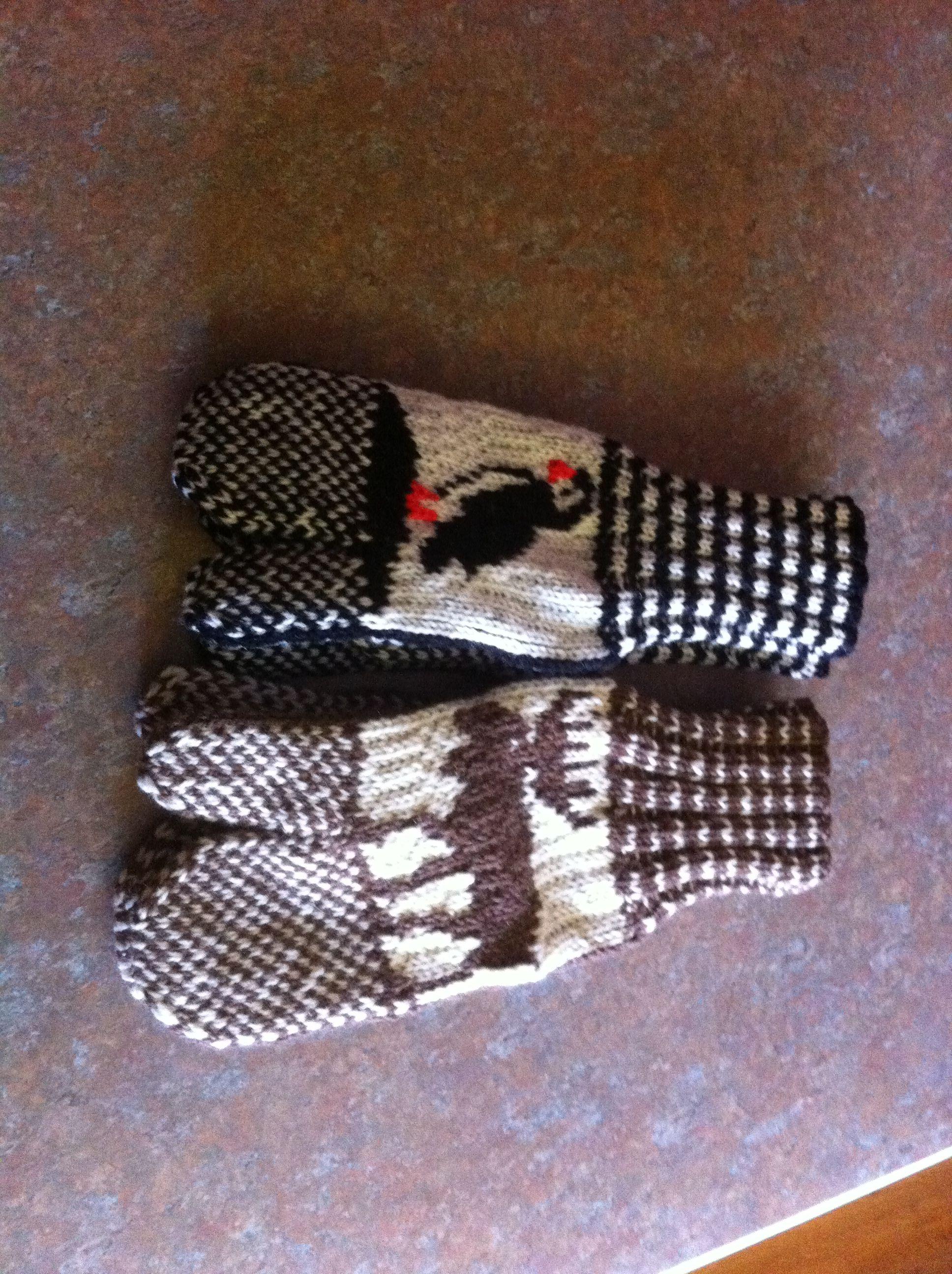 Newfie handmade mittens