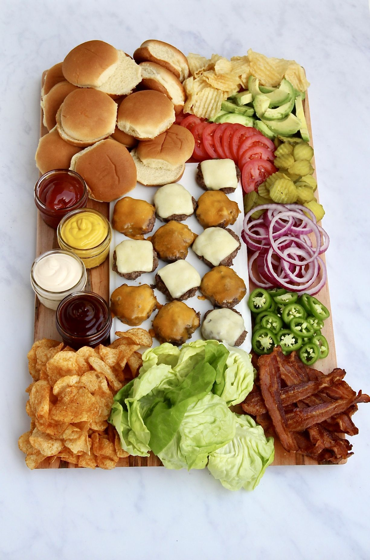 Build-Your-Own Burger Board | The BakerMama
