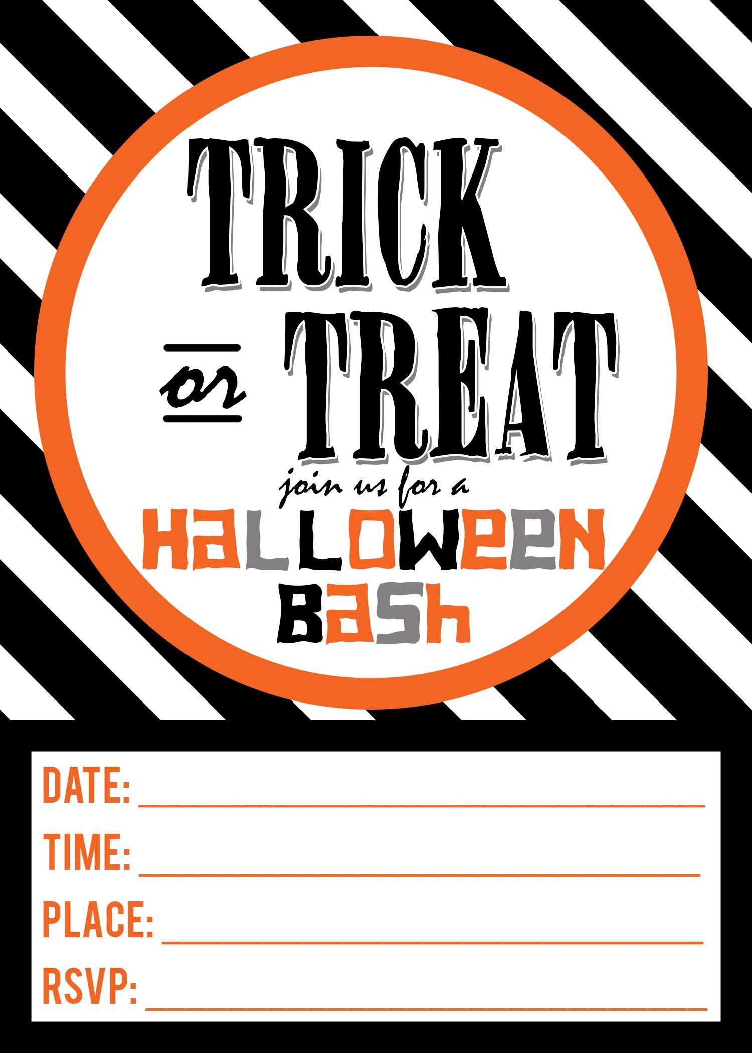 Halloween Invitation Free Printables   Pinterest   Halloween ...