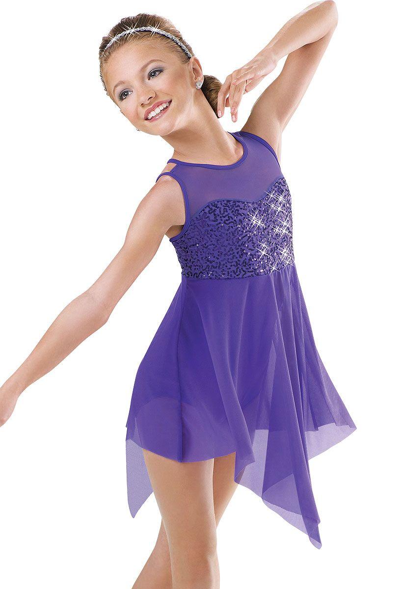 Sequin Bodice Lyrical Dress; Weissman Costumes | vestidos ...