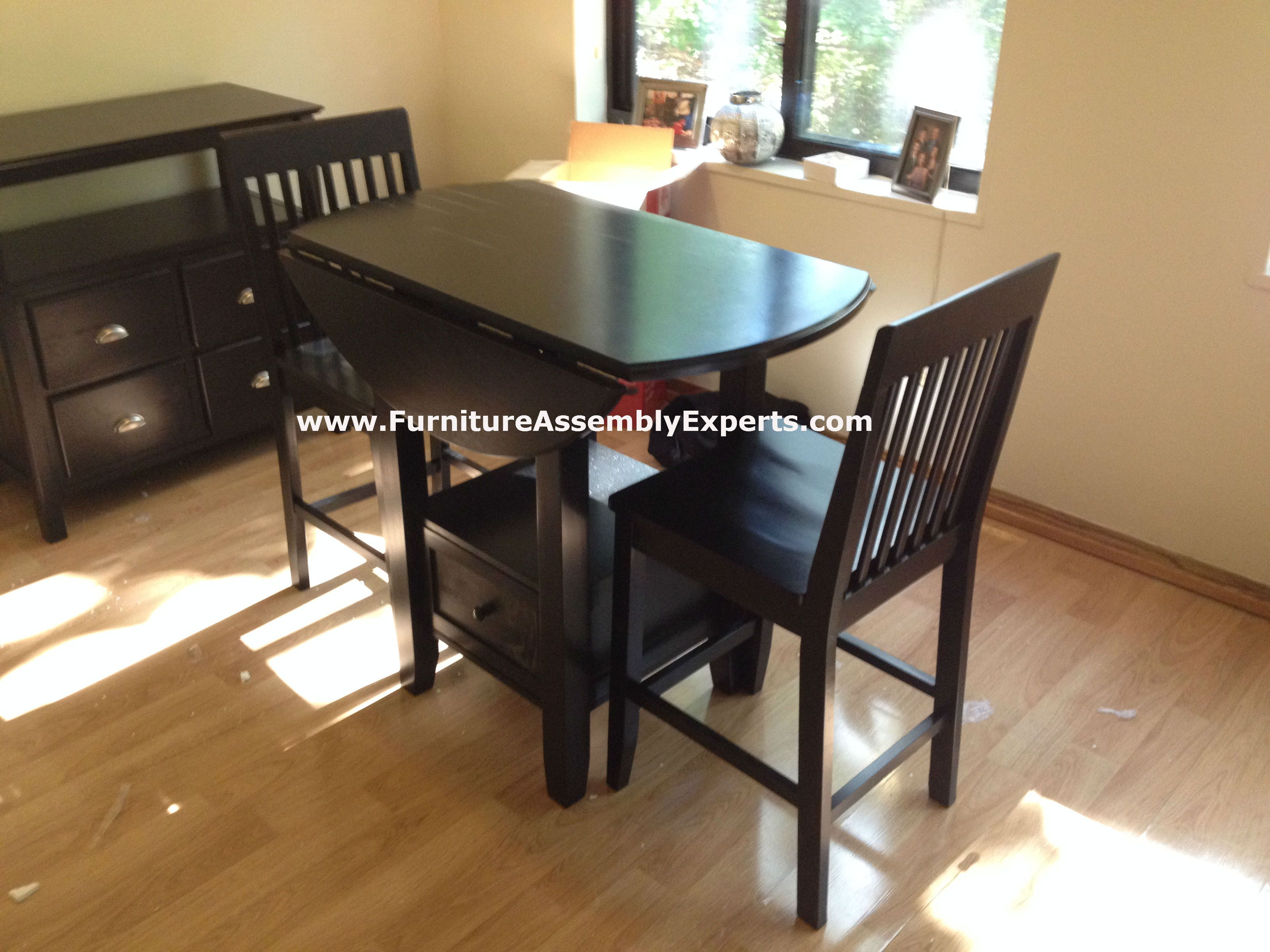 Target ThresholdTM 3 Piece Storage Pub Dining Set Assembled In Washington DC By Furniture