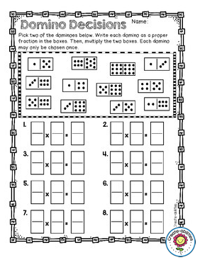 image relating to Dividing Fractions Games Printable named Multiplying and Dividing Fractions Things to do