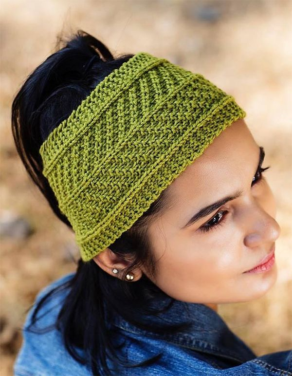 Fern Headband | Knit headband pattern, Knitting, Knitted ...
